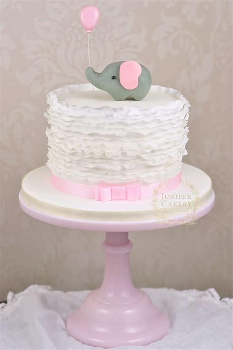 pink elephant baby shower cake juniper cakery beautiful cakes in hull and