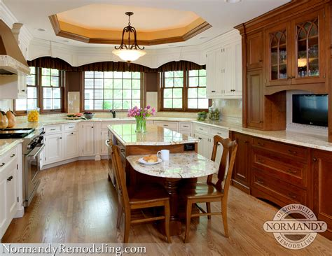 Kitchen Island Table With Seating Kitchen Island With Table Height Seating Two Level Search Ilot Central Avec Table