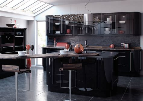 Black Gloss Kitchen Ideas Joinery Kitchens Kitchen Ideas Kitchen Designs Kitchen Units Discount Kitchens