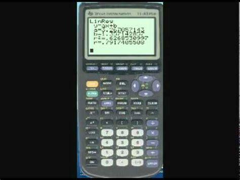 calculator regression ti 84 83 regression line and residuals doovi