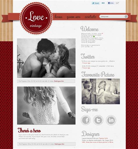 themes para tumblr escuros theme para tumblr layout vintage by tayanee on deviantart
