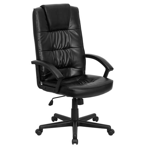 high  black bonded leather executive office chair  flash furniture  office chairs