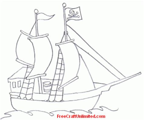 pirate ship template for free artwork pirate ship