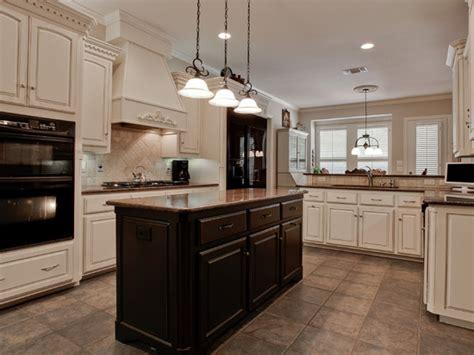kitchen floors  oak cabinets black  white