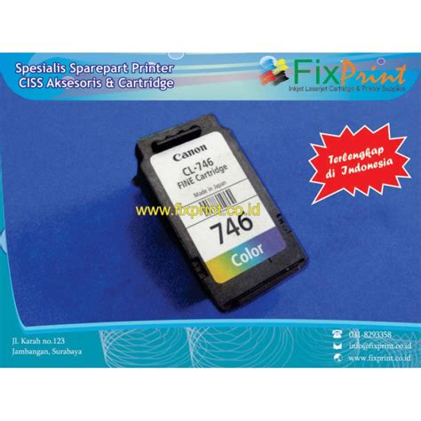 Canon Catridge Cl 746 Color jual cartridge bekas canon cl 746 cl746 746 color tinta