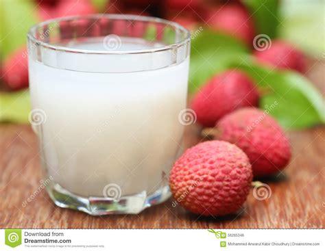 lychee juice lychee juice with fruits stock photo image 56265346