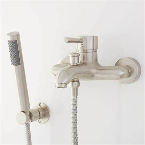 wall mounted bathtub faucets lavelle wall mount waterfall tub faucet bathroom