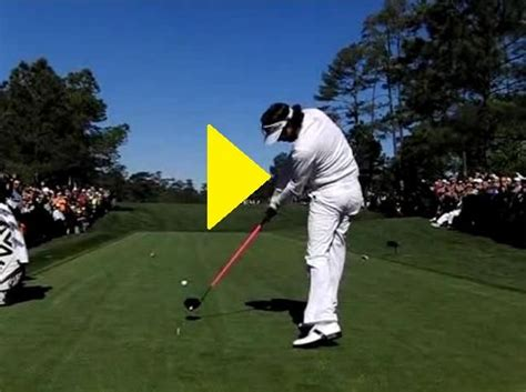 slow motion golf swing from behind bubba watson slow motion golf swing http www powerchalk