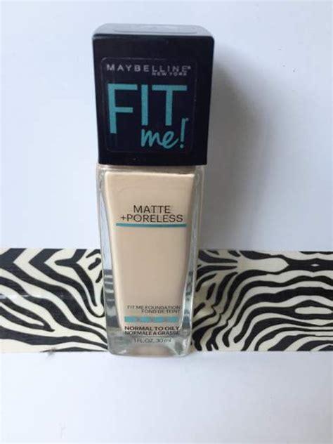 Maybelline Fit Me Matte Poreless Foundation maybelline fit me matte poreless foundation review