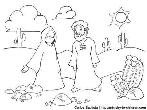 coloring pages jesus tempted desert gospel of 1 12 15 clipart coloring pages puzzles