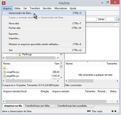 porta filezilla suporte filezilla mco2 hospedagem de