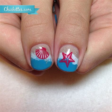beach nail colors 2014 more beach nails sand and water chickettes soak off
