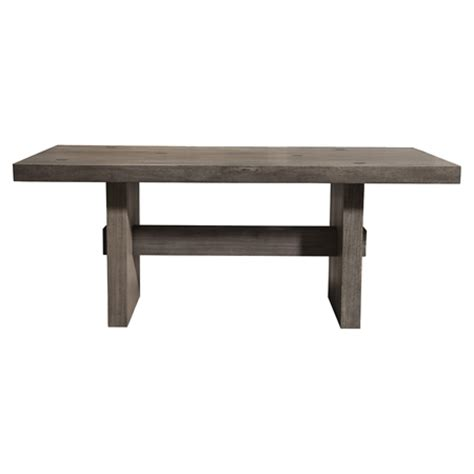 fiji dining table weathered gray dcg stores