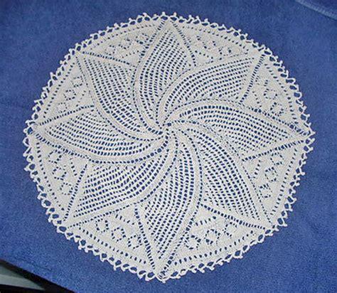free patterns knitting crochet tatting swirl leaf doily free knitting pattern