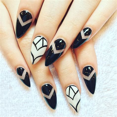 white and black pattern nails 29 black and white acrylic nail art designs ideas design