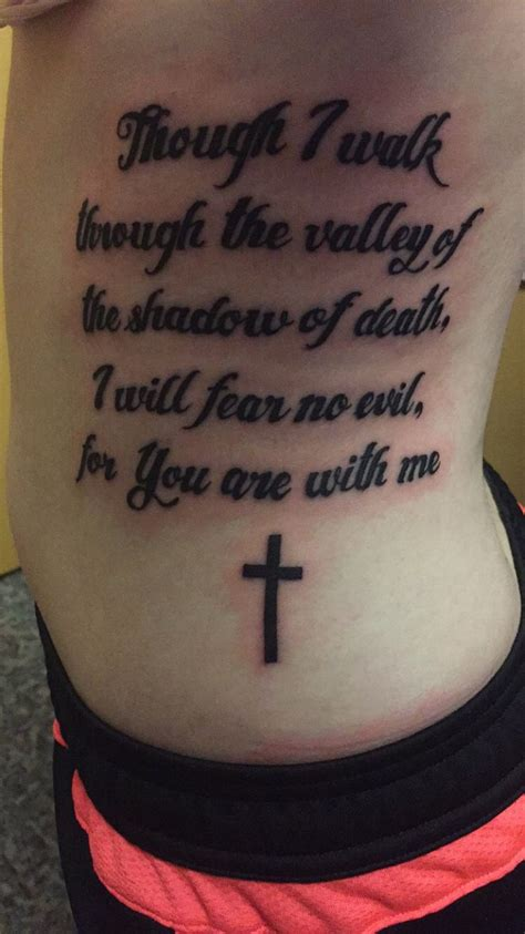 psalm 23 tattoo my new psalm 23 4 my favorite bible verse