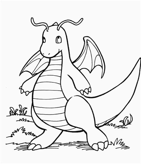 pokemon coloring pages dragonite hinh to mau pokemon images pokemon images