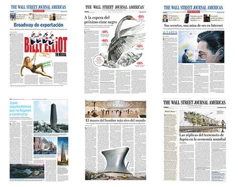 newspaper layout in adobe indesign newspaper design the wall street journal americas on behance