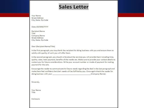 Business Introduction Letter Format Sles sales letter