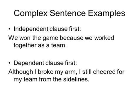 sentence template simple compound and complex sentences ppt