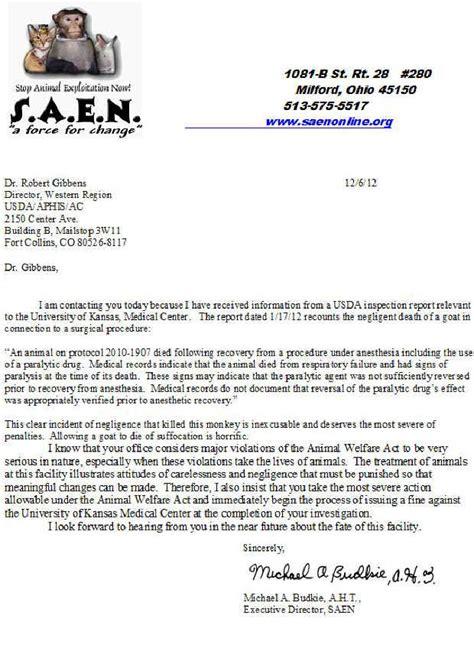 Complaint Letter To Service Center Of Kansas Center Kansas City Ks