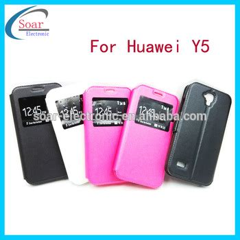 Leather Flip Huawei Y5 plain flip leather cover for huawei ascend y5 view