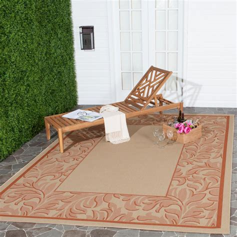 8 foot indoor outdoor rugs safavieh courtyard terracotta 8 ft x 11 ft indoor outdoor area rug cy2666 3201 8 the