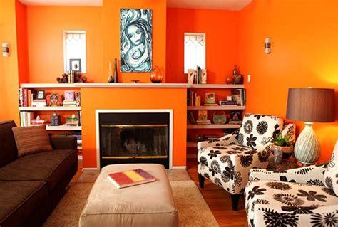 lively orange living room design ideas rilane