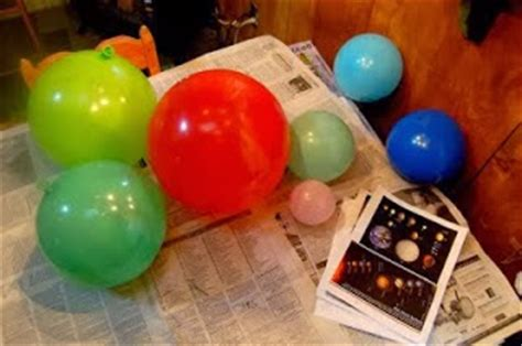 How To Make Paper Planets - diy solar system