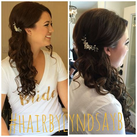 Wedding Hair Half Up Half To The Side by Wedding Hair By Lyndsayb Half Up Half Wedding Hair