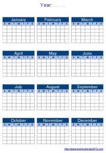 blank year calendar template 2017 calendar printable