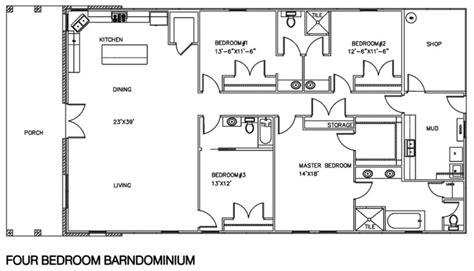 1 Floor Living by 20 Barndominium Floor Plans Metal Building Floor Plans