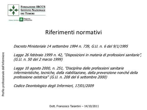 decreto ministeriale 10 febbraio 1999 n 34 profilo professionale e responsabilit 224 infermiere