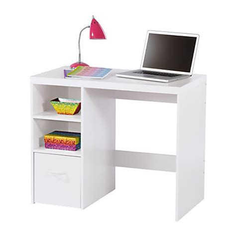 Office Depot White Desk Brenton Studio Leslie Student Desk White By Office Depot Officemax