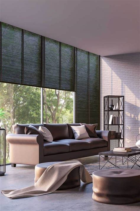 gray walls brown couch wall design ideas