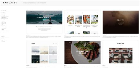 Wordpress Alternatives To Squarespace Features Elegant Themes Blog Squarespace Website Templates