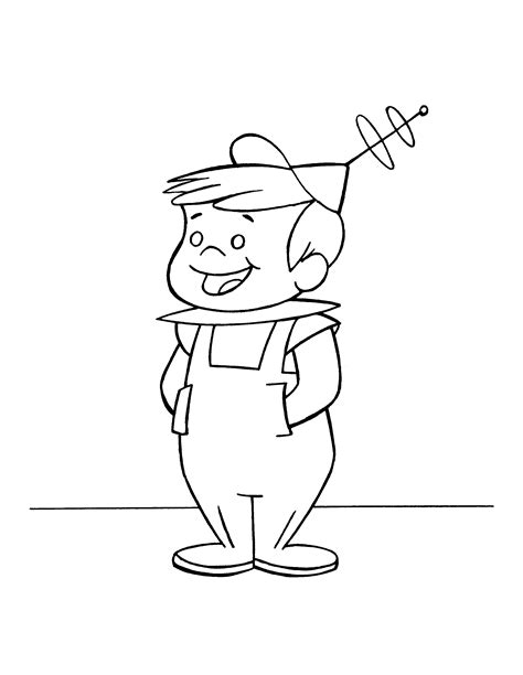jetsons coloring page jetsons 004 png 2400 215 3100 jetsons and flintstones kids