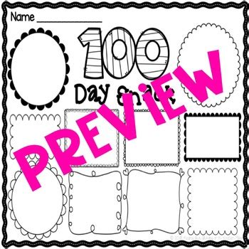 100 day snack mat 100th day of school editable snack mat tpt