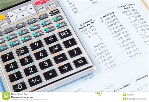 calculator open calculator and book royalty free stock photography image