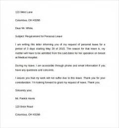 Exle Of Apology Letter For Absence Leave Of Absence Letter 8 Free Documents In Pdf Word