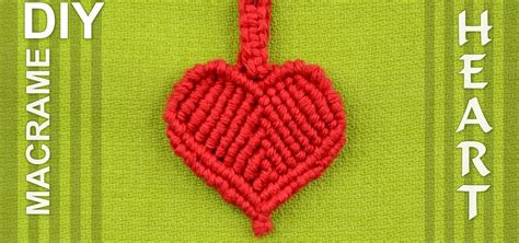 How to Make a Macrame Heart / DIY « Jewelry