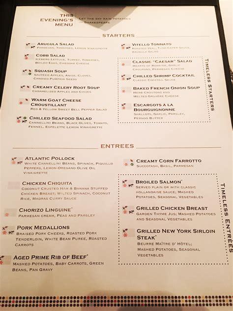 eclipse room service menu eclipse news