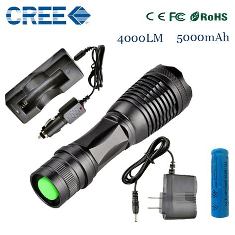 New Senter Led Cree Laser Terang E17 Xm L T6 2000 Lumens 18650 3 X buy wholesale led torch from china