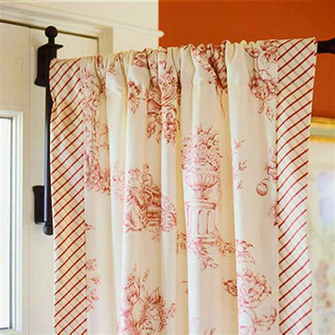 swinging door curtain pole decorating ideas toile fabric traditional home
