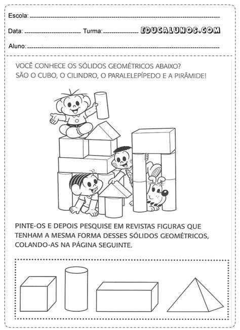 figuras geometricas atividades educação infantil atividades matem 225 tica 1 176 s 233 ries para imprimir atividades