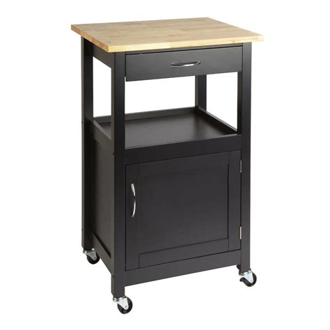 Black Rolling Kitchen Cart With Drawer Christmas Tree Rolling Cart For Kitchen