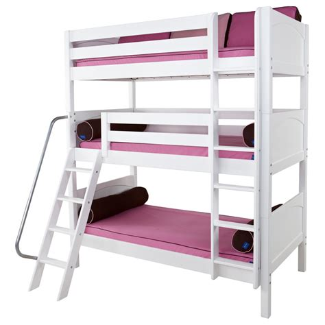 Bunk Beds For Triplets Maxtrix Moly Bunk Bed In White With Panel Bed Ends 850