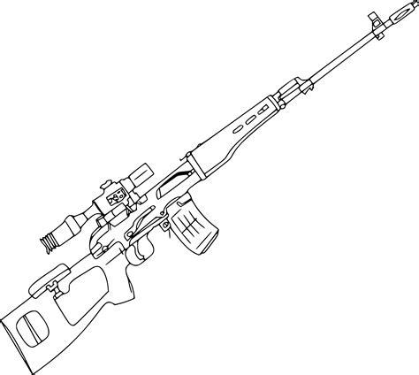 Coloriage Fusil 224 Imprimer Sur Coloriages Info