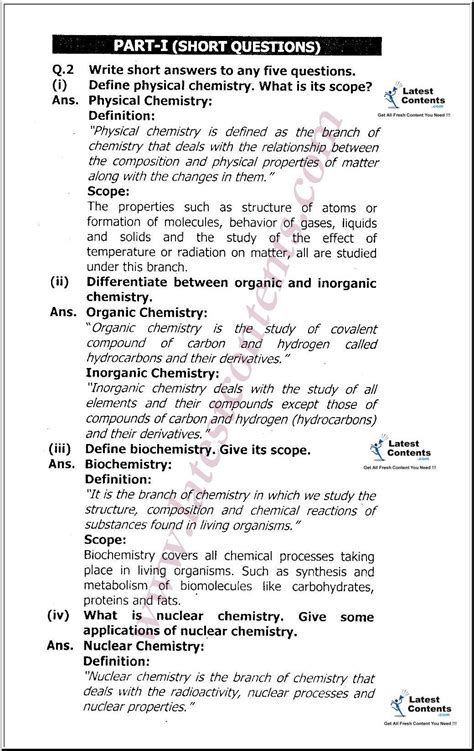 For Chemistry 1 9th class chemistry notes unit 1 fundamentals of chemistry