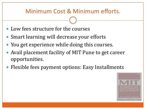 Jnu Fee Structure For Mba by Mit Become A Energy Auditors And Energy Manager